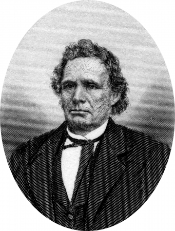 Engraving of Thaddeus Stevens (April 4, 1792 ? August 11, 1868), a representative of Pennsylvania, was a leader of the Radical Republican faction of the Republican Party and a fierce opponent of slavery.  Original engraving by John Buttre, circa 1866. Stock Photo - 17393231
