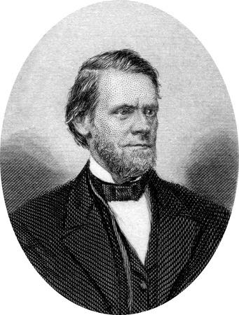 Engraving of John Sherman, nicknamed