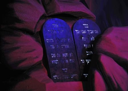 Rekwisieten van de Bijbelse Tien Geboden Stockfoto