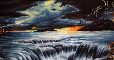 doom: theatre backdrop featuring a flood scene