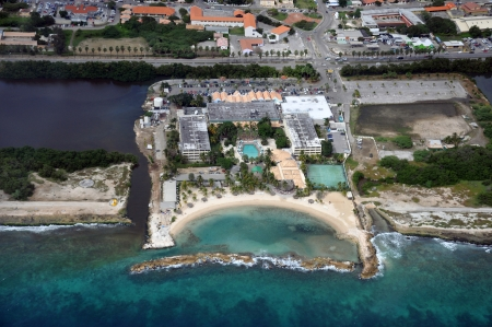 Tourist resorts on the island of Curacao in the Caribbean photo