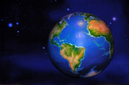 theatre backdrop featuring the earth in space Stock Photo - 20411263