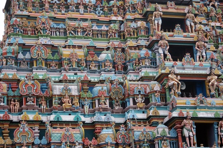 idolatry: Hindu Temple in Tirunelveli, Tamil Nadu, South India Stock Photo