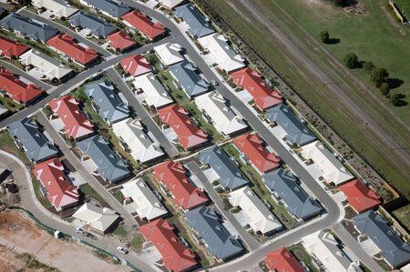 退職の村; 建物の航空写真バンダバーグ, クイーンズランド, オーストラリア 写真素材