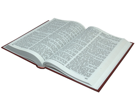 king james: Plain King James Bible open at the New Testament