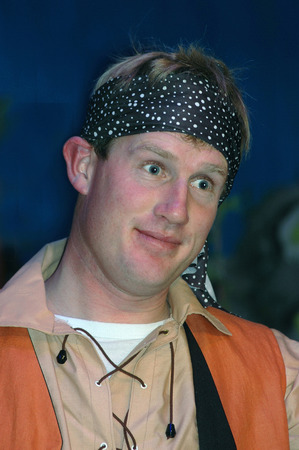 30 something: surprised pirate in stage performance