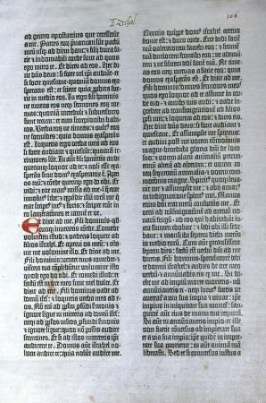 ページを最初に印刷された聖書から、ラテン語のウルガタ聖書のグーテンベルクの 1455年版。リード コレクションで公共図書館、ダニーデンニュー 写真素材