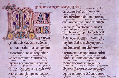 Facsimile of the Book of Kells, Latin Vulgate: Mark 1:1. Courtesy of the Reed Collection at Dunedin Public Library, New Zealand