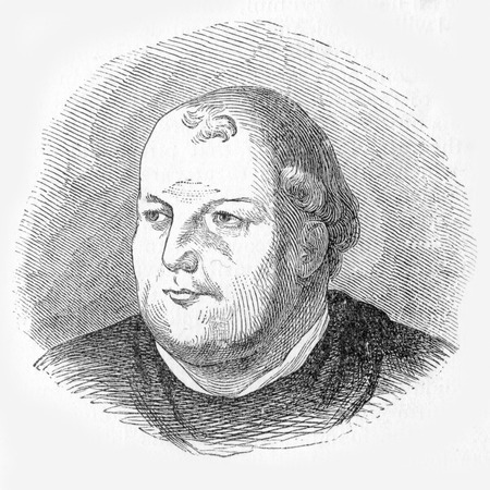 tremendous: Vicar-General, John von Staupitz, who had a tremendous effect on the thinking of Martin Luther,  from an engraving published in Life of Luther by Julius Kostlin, 1900 Editorial