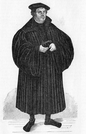 martin luther: Martin Luther, from a work by Cranach, published in Life of Luther by Julius Kostlin, 1900