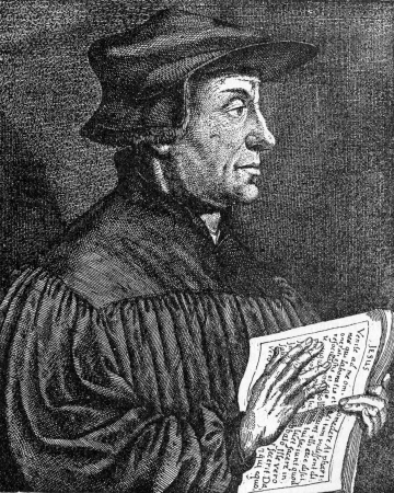 reformation: Huldrych or Ulrich Ulricht Zwingli  1484 – 1531 ,  a leader of the Reformation in Switzerland, from an engraving published in Life of Luther by Julius Kostlin, 1900