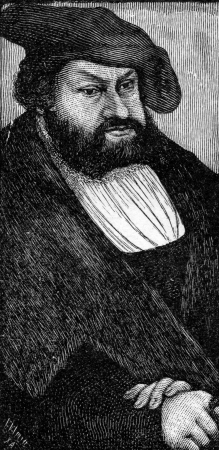 elector: Elector John Constant of Saxony, the brother of Frederick the Wise of Saxony  John co-founded the Protestant Smalkaldic League, from a painting by Cranach, published in Life of Luther by Julius Kostlin, 1900