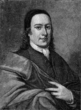 Nikolaus Ludwig von Zinzendorf und Pottendorf, Imperial Count of Zinzendorf and Pottendorf  1700 - 1760 , German religious and social reformer and bishop of the Moravian Church; engraving from Selections from the Journal of John Wesley, 1891