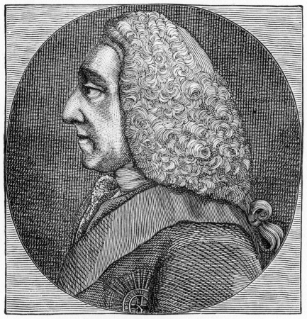 Philip Dormer Stanhope, 4th Earl of Chesterfield  (1694 - 1773)  British statesman and man of letters, engraving from Selections from the Journal of John Wesley, 1891