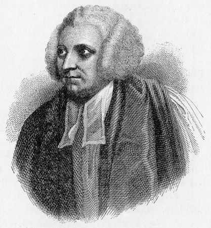Robert Lowth (1710 - 1787), a Bishop of the Church of England, Oxford Professor of Poetry and the author of one of the most influential textbooks of English grammar; engraving from Selections from the Journal of John Wesley, 1891