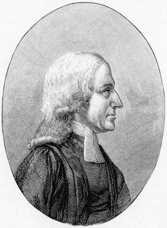 wesley: John Wesley, from a portrait in the European Magazine, engraving from Selections from the Journal of John Wesley, 1891