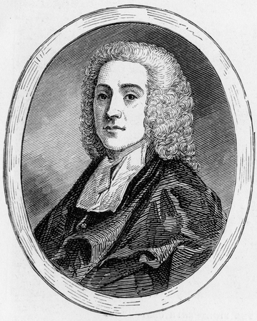 hymn: The Rev. Philip Doddridge, D.D. (1702-1751), Nonconformist Divine and Hymn Writer, engraving from Selections from the Journal of John Wesley, 1891
