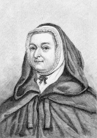 Mary Bosanquet Fletcher (1739 - 1815) English deaconess in the early Methodist movement. She married John Fletcher and was a close friend of John Wesley; engraving from Selections from the Journal of John Wesley, 1891