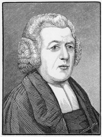 wesley: John Henry Newton (1725 - 1807)  English sailor, ex-slave trader and Anglican clergyman, famous as a hymn-writer and supporter of the abolition of slavery; engraving from Selections from the Journal of John Wesley, 1891 Editorial