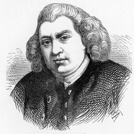 essayist: Samuel Johnson (1709 - 1784), often referred to as Dr Johnson, made lasting contributions to English literature as a poet, essayist, moralist, literary critic, biographer, editor and lexicographer, engraving from Selections from the Journal of John Wesley