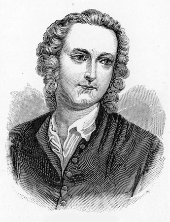 wesley: Thomas Gray (26 December 1716 – 30 July 1771)  English poet, letter-writer, classical scholar and professor at Cambridge University, engraving from Selections from the Journal of John Wesley, 1891 Editorial