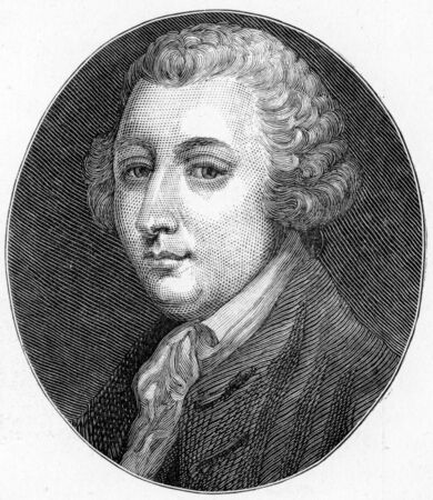 wesley: Tobias George Smollett (1721- 1771) Scottish poet and author, best known for picaresque novels; engraving from Selections from the Journal of John Wesley, 1891