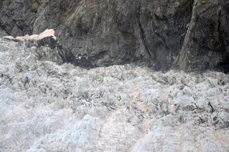 franz josef: lower area of Franz Josef Glacier, Westland, New Zealand