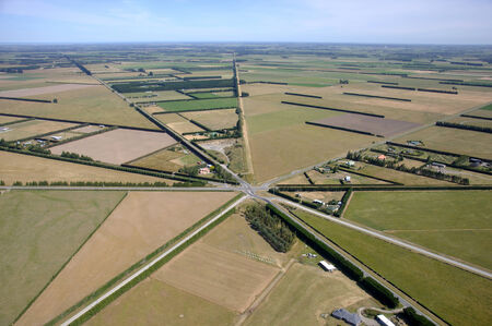landuse: Aerial of six way intersection, Canterbury, South Island, New Zealand