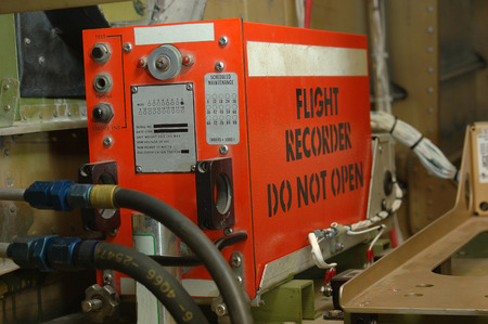The so-called Black Box - a flight recorder in position in a commercial aircraft