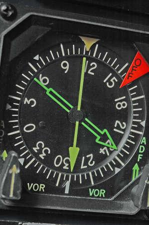 compass on aircraft instrument panel photo