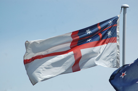 colonial: New Zealand colonial flag from 1840s, now usually flown on Waitangi Day