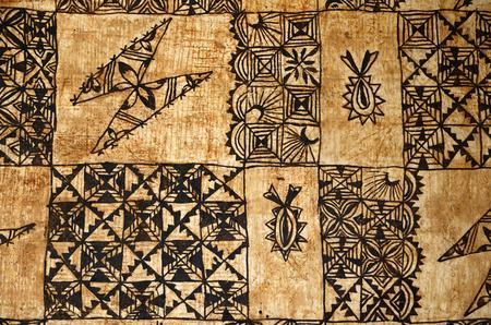 伝統的な太平洋島タパ布、トンガ、サモア、フィジーで主に行われた樹皮の背景