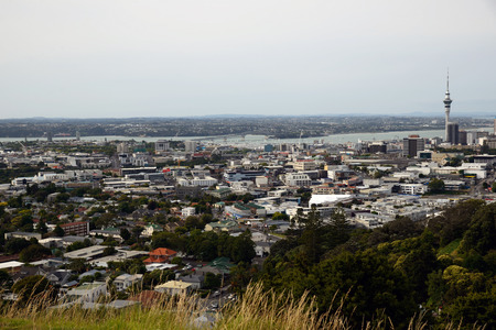 eden: Auckland central Business District and Harbour Bridge from the Mount Eden lookout, Auckland, New Zealand Editorial
