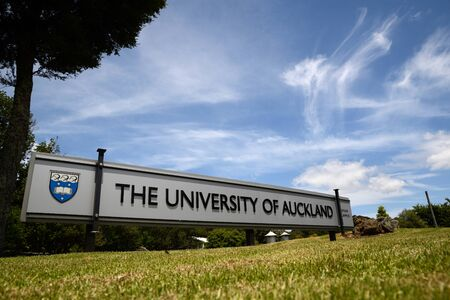 tertiary: Signage for the Epsom Campus of the University of Auckland in New Zealand Editorial