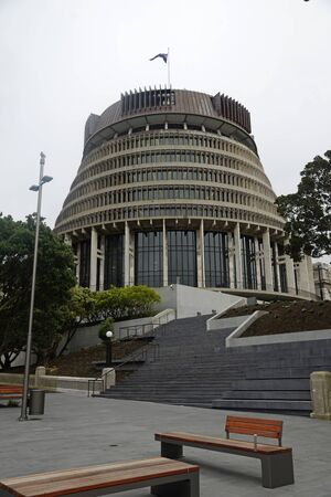 governing: WELLINGTON, NEW ZEALAND, JULY 27, 2015: The seat of New Zealand Government, Parliament House in Wellington, New Zealand