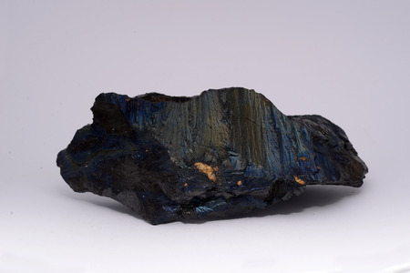 carboniferous: A piece of anthracite from a New Zealand mine, known to the miners as rainbow coal or peacock coal. Anthracite is the purest form of coal and it appears in about 1% of coal deposits around the world.