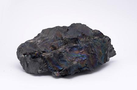 carbone: Un pezzo di antracite da una miniera della Nuova Zelanda, conosciuto localmente come il carbone o carbone arcobaleno pavone.