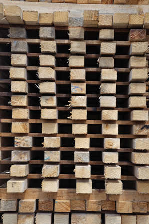 sawmill: Piles of  timber cut from Pinus radiata are laid out to dry at the sawmill