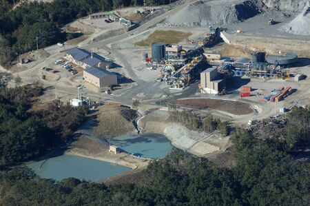 oceana: Ore concentration facilities at Oceana Gold Globe Progress Gold Mine, Westland, New Zealand Editorial