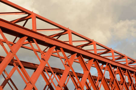 truss: Background of steelwork in a large truss bridge