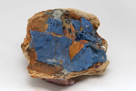 A specimen of vivianite or iron phosphate, from the Hope Saddle, Nelson, New Zealand