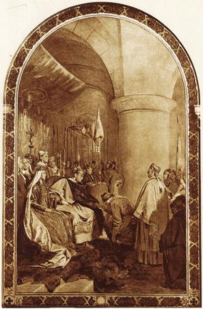Guglielmo il Conquistatore concede una carta di libertà al popolo di Londra dopo la sua conquista. Editoriali