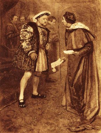 King Henry VIII dismisses Cardinal Wolsey after he fails to secure his divorce from Katherine of Aragon. Sajtókép