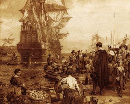 The departure of the Pilgrim Fathers on the Mayflower in 1620 marked the start of religious liberty in the New World.