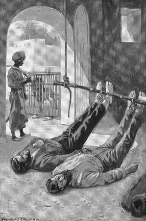 Mezzitoni del missionario battista Adoniram Judson detenuto in una prigione birmana durante la notte. Da Judson l'eroe della Birmania, 1923.