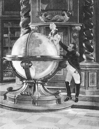 Emperor Napoleon Bonaparte holds his infant son up to the globe with the audacious promise that Its all for thee. The boy died in exile and obscurity. Editöryel