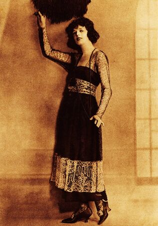 Studio portrait of Hollywood actress, Anita Stewart, famous during the era of silent movies. Centrefold from Picture Show Art Supplement circa 1923.