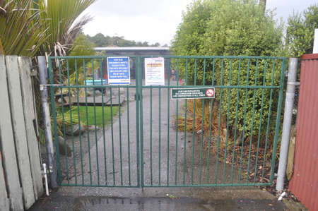 GREYMOUTH, NEW ZEALAND, APRIL 18 2020: Signage shows that a kindergarten is closed during the Level 4 Covid 19 lockdown in New Zealand, April 18,  2020