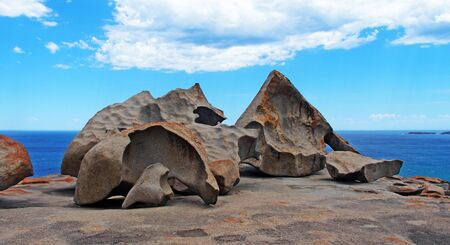 flinders: Remarkable Rocks, in the southern part of the Flinders Chase National Park Stock Photo