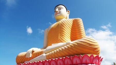 vihara: Buddha statue at Kande Vihara. This one is the biggest sitting Buddha in Sri Lanka